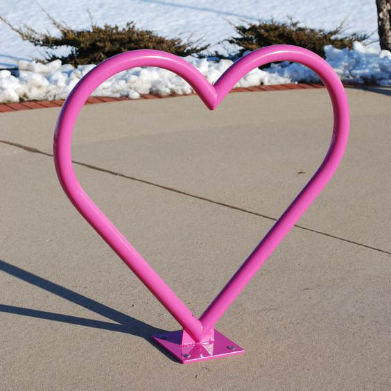 стойка за велосипед дизайнерска сърце
