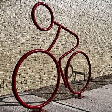 стойка за колело велосипед дизайнерска